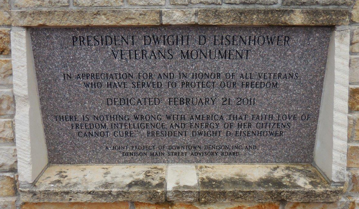 Eisenhower Veteran Monument